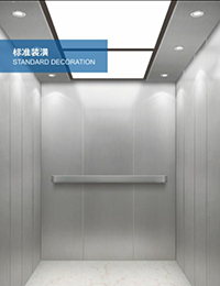 Good quality Wood And Mirror Deocration Cabin Passenger Elevator -